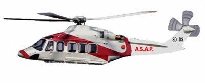 Air couriers helicopter
